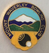 Mount Waverley Bowling Club Badge Rare Vintage (L3)