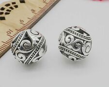 Free Ship 10/50Pcs Tibetan Silver Spacers Beads Fit Jewelry Making 14mm