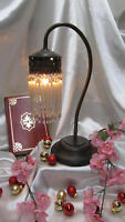 French Art Nouveau Style Vintage Table Lamp Beads Light Glass Lamp Reading Desk