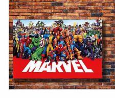 W232 Art marvel line up poster Super Heroes Universe marvel-superheroes Poster