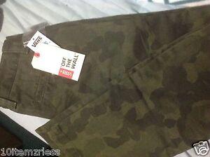 Unisex VANS Jeans Size 26/12 green Camopflage straight leg Retail $48  MSRP