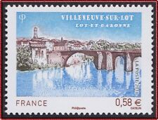2010 FRANCE N°4513** VILLENEUVE SUR LOT, Le Vieux Pont, France 2010 MNH