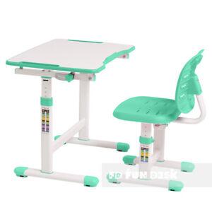 Fun Desk Omino Green moderner höhenverstellbarer Kinderschreibtisch mit Stuhl