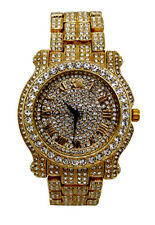 Hip Hop Ice'd Out  Lucky 23 Pendent w/ Bling Mens Watch L0504-SSS05G