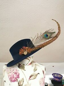 Handmade Feather Hat Pin Brooch Fedora Shooting Gift Present