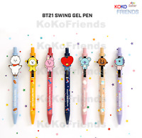 BTS BT21 Official Character Swing Gel Ball Pen GelPen 0.5mm KPOP Authentic Goods