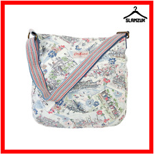 Cath Kidston Brighton Postcards Fabric Cotton Messenger Bag Cross Body Bag J7