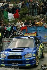 "Petter Solberg World Rally Champion 03 SUBARU IMPREZA HAND SIGNED PHOTO 12x8"" A.C."