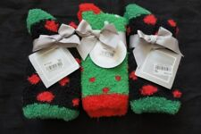 Charter Club Womens Socks Shoe Sz 6 - 10 Black Green Dot Multi 3 Pair Super Soft