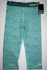 #247 NWT S Womens Nike Pro Athletic Pants 684676  Teal Green
