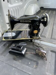 RARE Vintage Sewing Machine Edison Electric Deluxe Model 1952 Series