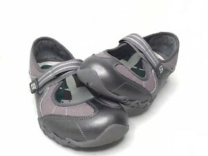 Skechers Womens Mary Janes Shoes Gray 21094 Walking Flats Slip On Strap Size 8.5
