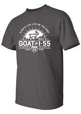 Goat On I-55 XLARGE Unisex T-Shirt Charcoal Gray with White Imprint