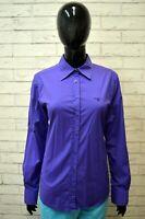 Camicia GANT Donna Taglia 44 Maglia Blusa Shirt Manica Lunga Hemd Elastica Viola