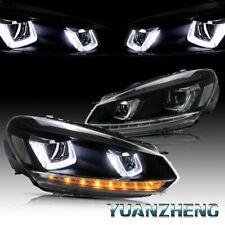 LED Faro Per 2008-2013 VW Golf 6 VI MK6 GTD GTI TSI Con Segnali Di Sequenziale
