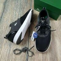 New LACOSTE sz 8 men light 2.0 sport black on black sneakers