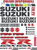 ADESIVI SUZUKI GSX-R gsx r 600 750 1000 moto KIT 28 PZ STICKER TUNING BICOLORE