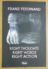 FRANZ FERDINAND RIGHT THOUGHTS 2013 SIGNED X4 COA AUTOGRAPH ORIGINAL POSTER