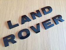 GLOSS BLACK LAND ROVER LETTERING FREELANDER DEFENDER DISCOVERY BOOT BONNET