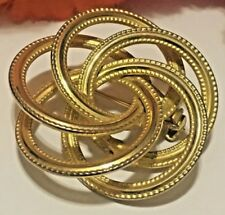 Ally Cat Finds Vintage 5 Ring Gold-tone Lapel Pin, Spiral Design