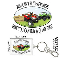 QUAD BIKE GIFT KEYRING You Can't Buy Happiness But You Can Buy A Quad Bike