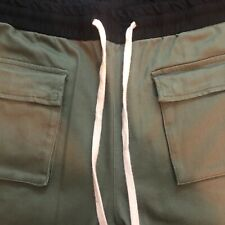 MNML Men's Vintage Style Relaxed Fit Cargo Pants  Olive Size 3xl