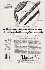 1937 Parker Speedline Vacumatic Major-Maxima Fountain Pen Vintage Photo Print Ad