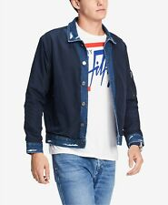 $215 Tommy Hilfiger Men Blue Logo Denim Lightweight...