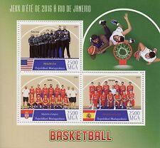 Madagascar 2016 neuf sans charnière Rio 2016 Jeux olympiques d'été de basket-ball 3 V M/S Sports timbres