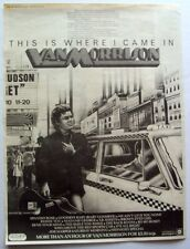 Van Morrison 1977 Poster Advert This Is Where I Came In Bang Records