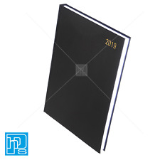 2019 A4 Page A Day Diary Black Q-Connect KFA41BK19