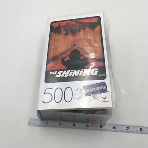 The SHINING, Horror 500 Piece BLOCKBUSTER Puzzle in Retro Style Plastic VHS Case