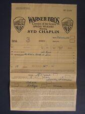 Movie Letterhead Warner Bro 5/8/26 Oh What A Nurse Syd Chaplin Patsy Ruth Miller