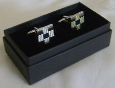 Black And White Gold Coloured Cufflinks