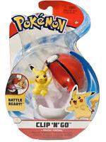 Pokemon Clip N Go Pikachu + Poke Ball Figure WCT 2020 Nintendo #98025
