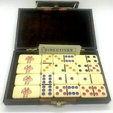 Vintage Dominos Double Six Square Dance Theme with Case