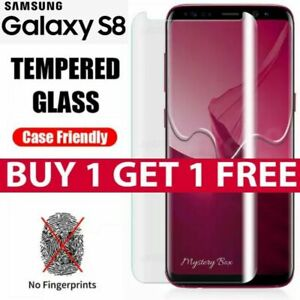 S8 Full Curved 5D Tempered Glass Screen Protector For Samsung Galaxy S8 - CLEAR