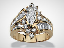3.20 TCW Marquise Cut 925 Sterling Silver Engagement Anniversary -#W6-144