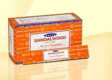 ORIGINAL SATYA SANDALWOOD GENUINE 12 X 15GMS BOXES =180GMS OF INCENSE STICKS
