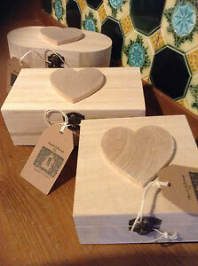 Wooden Heart Box to Decoupage or Paint