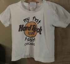 Hard Rock Cafe 2T 3T White Multi-Color Short Sleeve T-shirt 100% Cotton