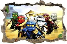 WANDAUFKLEBER Loch in der Wand 3D LEGO NINJAGO Wand Aufkleber Wandtattoo 81