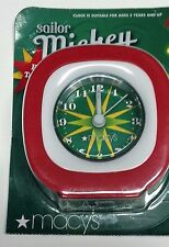 Sailor Mickey Disney Talking Alarm Clock Compass Rose Macys Holiday 2009 New