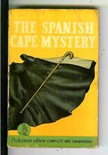THE SPANISH CAPE MYSTERY by Queen, Pocket #146 1st crime pulp vintage pb