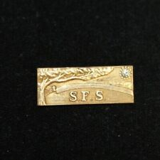 VINTAGE SFS 10KT GF WITH DIAMOND CHIP PIN TIE TAC