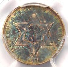 1861 Three Cent Silver Piece 3CS - PCGS AU Details - Rare Civil War Date!