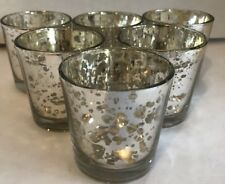 Lot/6 Mercury Glass Gold Tea Light Holders Candle Votive Wedding Decoration