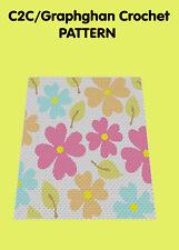Pretty Floral Blanket/Afghan - C2C Graphghan Crochet Pattern