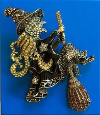 "HEIDI DAUS ""HEIDI on the stick"" pin brooch swarovski crystals."