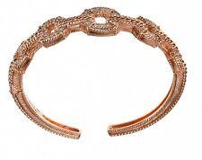 Judith Ripka CZ Diamonique Sterling &14K Rose gold Clad size medium Cuff